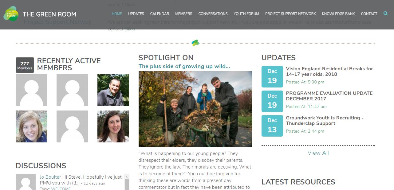 The Green Room Website